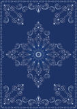 Vintage frame with blue luxury ornament Stock Images