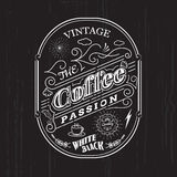 Vintage frame border coffee label design badge elements Royalty Free Stock Photos