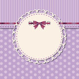 Vintage frame with bow  Stock Images