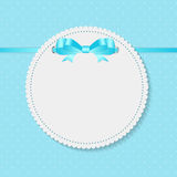 Vintage Frame with Bow  Background. Vector Stock Photography