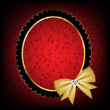 Vintage frame with bow vector illustration Royalty Free Stock Images