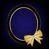 Vintage frame with bow vector illustration Stock Images