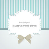 Vintage frame with bow vector illustration Stock Photos
