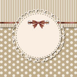 Vintage frame with bow vector illustration Stock Photography