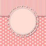 Vintage frame with bow vector illustration Royalty Free Stock Image