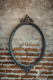 Vintage frame on brick wall Stock Image