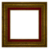 Vintage frame broken with old canvas  for background. Stock Images