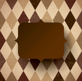 Vintage frame on brown background. Royalty Free Stock Photos