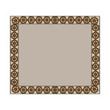 Vintage frame in brown. Royalty Free Stock Photos