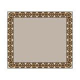 Vintage frame in brown. Illustration with vintage brown decorative frame royalty free illustration
