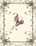 Vintage frame with butterfly Royalty Free Stock Images