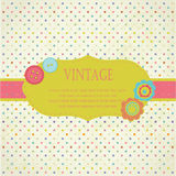 Vintage frame with buttons and flowers Stock Image