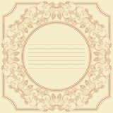 Vintage frame card with berry and fruit mix Stock Images