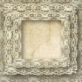 Vintage Frame Card With Border Lace Royalty Free Stock Image