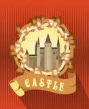 Vintage frame Castle Royalty Free Stock Photos