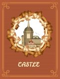 Vintage frame Castle Royalty Free Stock Photography