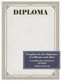 Vintage frame, certificate or diploma template vector illustration