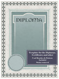 Vintage frame, certificate or diploma template stock illustration