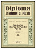 Vintage frame, certificate or diploma template Stock Images