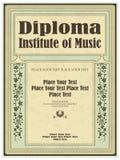 Vintage frame, certificate or diploma template royalty free illustration