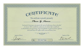 Vintage frame or certificate template vector illustration