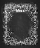 Vintage frame on the chalkboard. Stock Images