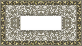Vintage frame with classic floral ornament and decorative Stock Image