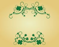 Vintage frame with clover Stock Images