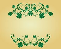 Vintage frame with clover Royalty Free Stock Photography