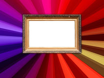 Vintage Frame on Colorful Background Stock Photos