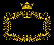 Vintage frame with crown vector illustration