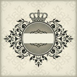 Vintage frame with crown Royalty Free Stock Photography