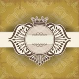Vintage frame with crown Royalty Free Stock Photo
