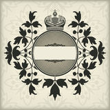 Vintage frame with crown Royalty Free Stock Image