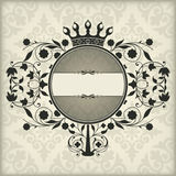 Vintage frame with crown Stock Photo