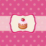 Vintage Frame With Cupcake stock illustration