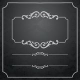 Vintage Frame with damask lace pattern. Stock Photos