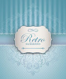 Vintage Frame with damask lace pattern. Royalty Free Stock Photo