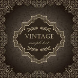 Vintage frame on a dark background Stock Images