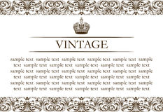 Vintage frame decor line Stock Photography