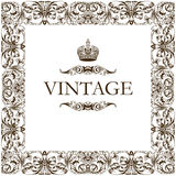 Vintage frame decor ornament Stock Images
