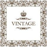 Vintage frame decor ornament Stock Images