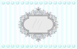 Vintage frame decor. Vector collection of round and square vintage frames, design element Royalty Free Stock Photography