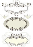 Vintage frame decorated with crown and the curves. Royalty Free Stock Photography