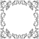 Vintage frame with decorative floral elements. Vintage circle frame with floral elements for your designs Royalty Free Stock Photography