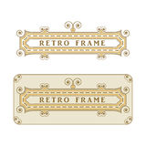 Vintage frame with decorative and floral elements for decoration, retro  suitable  menu decorations, cards, invitations Royalty Free Stock Photos