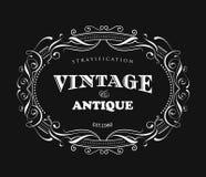 Vintage frame design antique label border vector Stock Photography