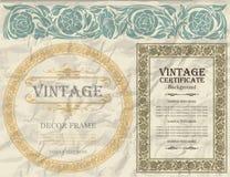 Vintage frame design: art nouveau Royalty Free Stock Photos