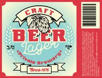 Vintage frame design for beer label royalty free illustration