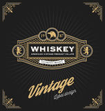 Vintage frame design for labels, banner, logo Royalty Free Stock Photography